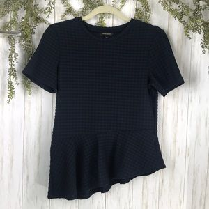Banana Republic Peplum Blue top. Size XS